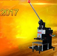 Wholesale Leather Embossing Machines - 2017 new Manual Hot Foil Stamping Machine Leather Logo Embossing Machine 15*10Cm 220V LLFA