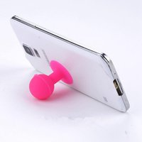Wholesale Mobile Phone Holder Stand Rubber - Phone Holder Stand Colorful Universal Monopod Mobile Phone Silicone Rubber Octopus Sucker Ball Stand Holder mobile phone stand