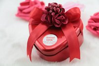 Wholesale Metal Candy Gift Favor - Fashion wedding candy box horses mouth heart-shaped tin box flowers candy box cylindrical wedding gifts in favour of gold holders