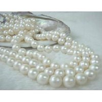 Wholesale Golden Akoya Pearls - Beautiful 48 inch 8-9 mm white akoya natural pearl necklace 14K yellow golden