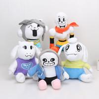Wholesale undertale plush sans online - 5pcs cm cm Hot Undertale Sans Papyrus Toriel Temmi Plush Doll Toy Animation Plush Toys Baby Kids Gift