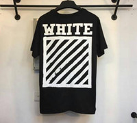 Wholesale Casual Diagonal - 16SS off white brushed diagonals short sleeve T shirt off-white c o virgil abolh back white arrow Tee