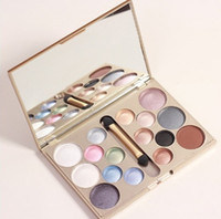Wholesale Professional Makeup Kit 16 - Wholesale- Make up brand 16 colors eye shadow glitter of diamonds eyeshadow palette professional makeup kit cosmetic maquiagem beauty