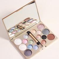 ingrosso kit trucco glitter-Wholesale- Make up marchio 16 colori ombretto glitter di diamanti palette di ombretti trucco professionale kit cosmetici maquiagem bellezza