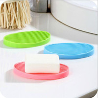 ingrosso portaoggetti da toilette-Soffietto flessibile in silicone Piatto da cucina Piatto da bagno Soap Holder