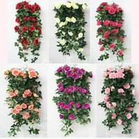Factory Wholesale Of China 6 couleurs Rose Flowers Heads Bouquet Arbre artificiel Peony Real Touch Flowers Vine Maison et décoration de mariage
