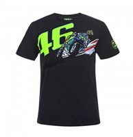 Jackets 100% Cotton Breathable Motorcycle Valentino Rossi T-shirt VR46 46 the doctor Moto GP Monza Cotton Men's T-shirt