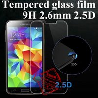 Wholesale galaxy s5 lcd protectors resale online - 2 D H Tempered Glass LCD Screen Film PROTECTOR Screen Guard With Bubble Packing For Samsung Galaxy Note S3 S4 S5 S6 S7 A5 A7 A9