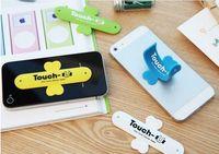 halter silikon tablette großhandel-2017 schöne Mini Universal Handyhalter Tragbare One Touch Silikon Tischständer Touch-U Für SmartPhone Tablet