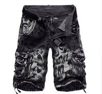 Wholesale Workout Capris - 2017 Men Military Shorts Summer Men's Camouflage Army Cargo Shorts Workout Shorts Homme Casual Bermuda Trousers plus size