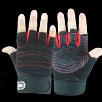 Gants de travail pour homme Prix-Gants de gymnastique de mode Fingerless Men Women 2017 Gants de haute qualité Fitness Work Out Gongs de protection de poignet Palm demi-doigt Nov2