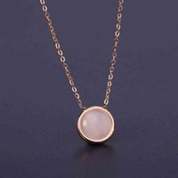 Wholesale cat eye glasses jewelry resale online - Vintage Jewelry Opal Natural Stone Pendant Necklace Cat Eye Glass Round Pendant Necklace Chokers For Women
