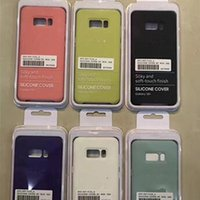 Wholesale Official Logo - for s8 official silicone case ultra soft cases protector shell cover for Samsung Galaxy S8 plus s8plus with logo