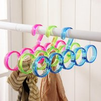 5-Hole Ring Roots Slots Holder Hook Echarpe Wraps Shawl Storage Hanger Ties Hanger / bBelt Rack / Scarves Organizer Outils pratiques
