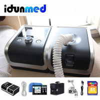 Wholesale Therapy Sleep - BMC Auto CPAP Machine Travel Portable CPAP With Airing Nasal Pillow Mask Hose Bag Breathing Apparatus For Sleep Apnea Therapy