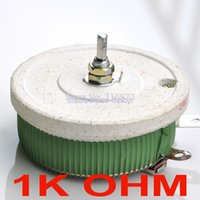 Wholesale 1k Ohm Resistor - Wholesale- (10 pcs lot) 200W 1K OHM High Power Wirewound Potentiometer, Rheostat, Variable Resistor, 200 Watts.