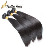 100% Unprocessed Malásia Hair Weft 8A Natural Color Silky Straight Human Hair Extensions 4pcs / lot Hair Bundles Bella