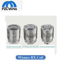 Wholesale triple coils - Original Wismec RX Coil Head Triple Dual 0.15ohm Ceramic 0.5ohm Max 260w Support Vape Head Replacement for Reux Tank