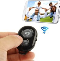 Wholesale Timer Camera Remote Control Wireless - Wireless selfie control bluetooth Self-Timer Remote Control Self-pole Shutter Camera Remotes Shutter Releases For iPhone Android Smartphone