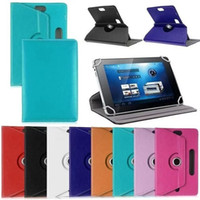 Wholesale asus memo cases - 360 Rotating Universal Leather Case for 7 8 9 10 inch Tablet PC MID PSP iPad Tablet Pad Adjustable Leather Flip Cover Cases