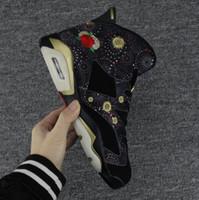 pfingstrosenstickerei großhandel-Hohe Qualität 6 6 s Chinesisches Neujahr Basketball Schuhe Männer 6 s CNY Pfingstrose Feuerwerk Stickerei Gold Clips Turnschuhe Mit Box