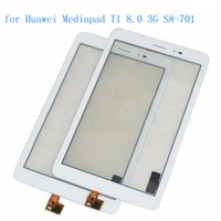 Wholesale Huawei Mediapad 3g - Wholesale- ALANGDUO for Huawei Mediapad T1 8.0 3G S8-701u Honor Pad T1 S8-701 Touch Screen Digitizer Panel Front Replacement Touchscreen