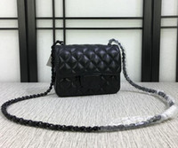 Wholesale Evening Cluth - Factory price Luxury Designer Mini Flap bag Lambskin 1115 Bag Single Quilted Cluth with Black Hardware Evening bag Messenger Bags