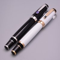 Wholesale fountain pens online - Unique Design Bohemee Germany Brand Fountain Pen Black White Resin Ink Pen With Serial Number