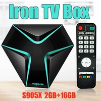 Wholesale best amlogic android tv box online - Presale MAGICSEE Iron Internet Box For TV Amlogic S905X Android TV Boxes GB GB G WIFI K H HDMI2 Best Internet TV Box