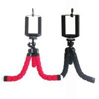 ayarlanabilir kamera standları toptan satış-Toney Ayarlanabilir Üç Bacaklar Standı Alüminyum Öz Çekim Braketi Cep Telefonu Tutucu Cep Telefonu Kamera Esnek Mini Tripodlar ücretsiz kargo