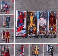 Wholesale Marvel Avengers Action Figures - Avengers PVC Action Figures Marvel Heros 30cm Iron Man Spiderman Captain America Ultron Wolverine Figure Toys 7 Styles