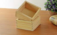 Wholesale Making Shipping Containers - Free Shipping 4PCS LOT Wooden Made Square Table Sundries Container Cosmetics Jewelry Storage Box Home Storage Box