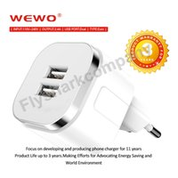 Wholesale Iphone Wireless Wall - WEWO Wireless Quick Travel Charger Adapter Universal Dual USB Phone Chargers UK US EU plug Wall Charger for iphone 6 6S 7S Samsung XiaoMi