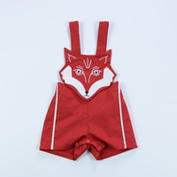 Wholesale Kids Suspenders For Sale - Baby Overalls Kids Fashion Romper for Boys Girls Summer Cotton Cartoon Fox Jumpsuit Children Clothes Cute Toddler Clothing Hot Sale
