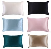 Wholesale Healthy Pillowcases - Wholesale- Free shipping 100% nature mulberry Silk pillowcase zipper pillowcases pillow case for healthy standard queen king multicolor