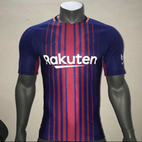 Wholesale Polyester Slim Fit Shirts - ^_^ Wholesales17 18 match worn issued player shirts slim fit soccer jerseys custom name number AAA quality soccer uniform football jersey
