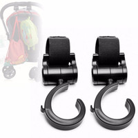 Wholesale Pram Stroller Carriage - 2018 New Stroller Baby Carriage 2pcs Purpose Baby Pram Stroller Pushchair Swivel Hanger Hooks Carriage Storage Bag