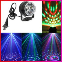Wholesale Dj Disco Party Club Light - Christmas 3 LED 3W Mini RGB Crystal Magic Ball Stage Lighting Effect Lamp Bulb Party Disco Club DJ Light Show US EU Plug