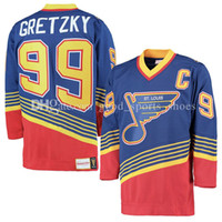 Wholesale 99 free - Men's St. Louis Blues 99# Wayne Gretzky 2017 Winter Classic Premier Jersey stitched Custom Jerseys fast free shipping