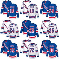 Cheap 2018 2017 New Brand Mens New York Rangers 10 J.T. Miller 24 Cristoval Nieves Andrew Desjardins Filip Chytil Blue Hockey Jerseys