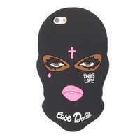 Wholesale goophone 5s for sale - Cute Silicon Masked Teared Girl Jesus Christian Cross Cover Case for iPhone s plus plus S SE goophone plus