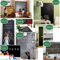 Wholesale 1pcs Wall Sticker Creative Chalkboard Sticker Removable Blackboard Wall Stickers for Kids Rooms Home Decor With Regular Chalks