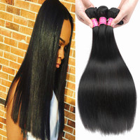 Wholesale Real Virgin Unprocessed Hair - Rainbow Queen Real Brazilian Straight Human Hair weaves Cheap Brazilian Virgin Human Hair Bundles Natura Color Unprocessed Brazilian Bundles