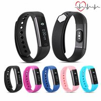 Wholesale Clock Alarm For Iphone - ID115 HR Smart Wristband Heart Rate Monitor Fitness Bracelet Alarm Clock Smart Band Waterproof for iphone Android phone