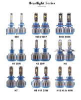 xenon h1 ampul sakladı toptan satış-LED Far Dönüşüm Kiti 880 9004 9005 H4 H7 H11 H13 40 W 4000LM Far HID Xenon Kiti Değiştirin Otomatik Ampul Lamba Işık