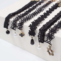Wholesale Lace Necklace Child - New Lace Children necklace Girls collarbone chain necklace Fashion Korean kids necklet baby choker Girl jewelry Necklace A771