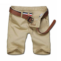 Wholesale Cotton Crop - Wholesale- Fashion Mens Shorts Chino Flat Solid Casual Shorts Short Pants Cropped Cotton Boys Slim Fit Summer Shorts 0275