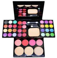 Wholesale Eyeshadow Blush Lip Gloss - Fashion 39 Colors Eyeshadow Palette Set 24Eye shadow + 8 Lip Gloss +3 Blush +3 Concealer Make up Kit Cosmetics