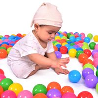 Wholesale Kids Plastic Play Balls - Wholesale- 100pcs lot Baby Play Toy Pool Balls Eco-Friendly Soft Funny Baby Kid Swim Plastic Balls Pit Balls Bath Toy For Pool