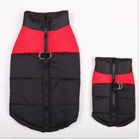 tienda de ropa abrigada al por mayor-Armi store Button Moda abrigos abrigos para perros Perros Invierno Abrigos Chaquetas 6141032 Ropa para mascotas Suministros